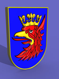 3d Poland Griffin Crown Coat of Arms