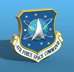 3D Air Force Space Command Logo