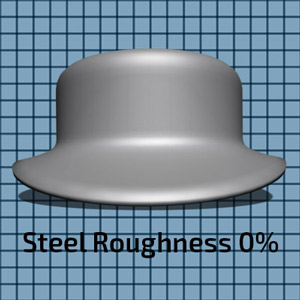 Steel Material at 0% Roughness setting