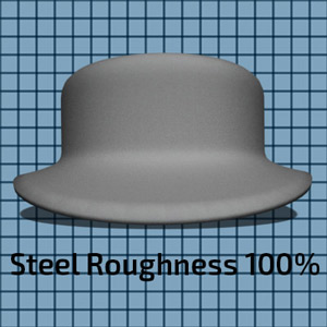 Steel Material at 100% Roughness setting