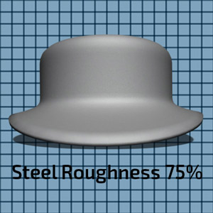 Steel Material at 75% Roughness setting